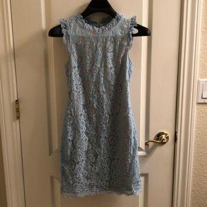 VIci baby blue lace dress